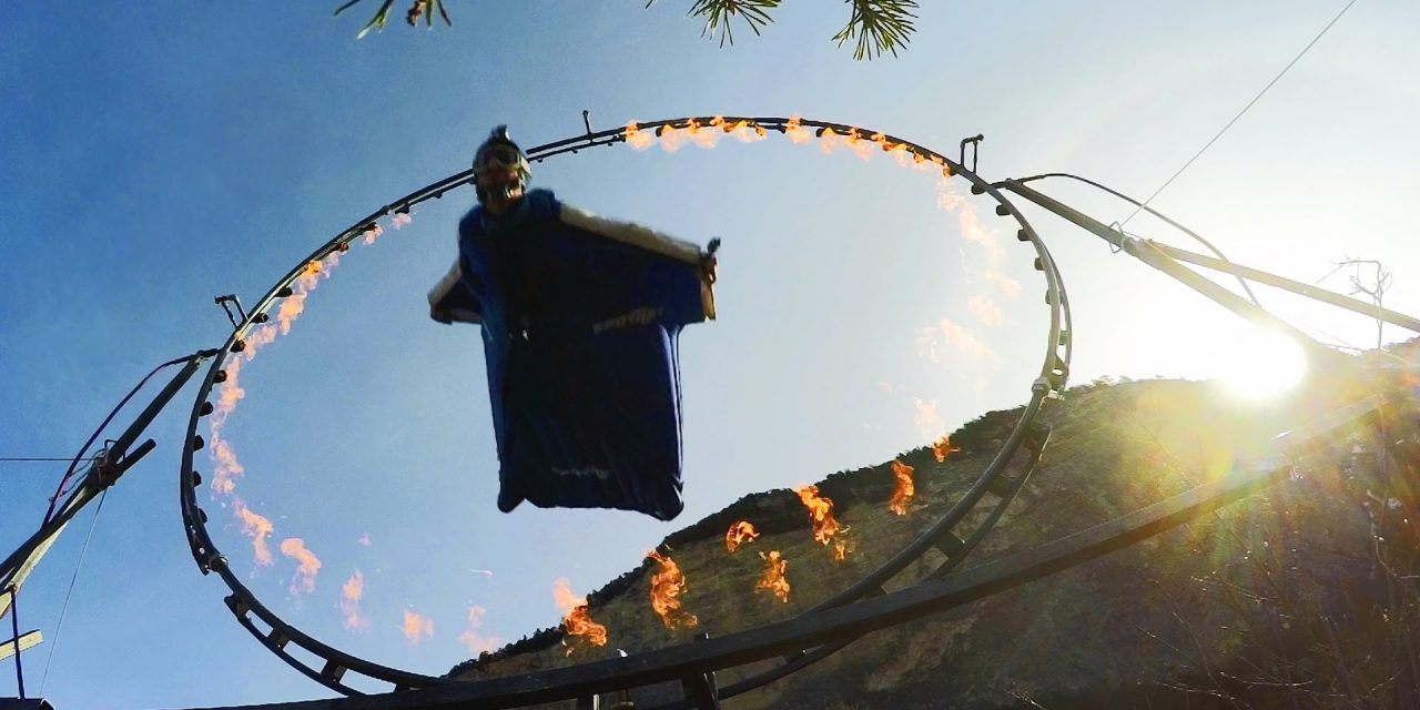 GoPro: Wingsuit Flight Through Ring of Fire with Uli Emanuele