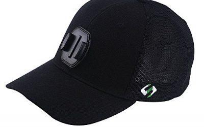 Smatree Mesh Baseball Hat for GoPro Hero 5 Session, Hero 7/6/5/4/3+/3/2/1 (L 58-60cm) Black