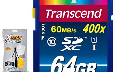 Transcend High Speed SD Memory Card KIT w/ Memory Card Wallet for Canon (64GB)