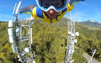 GoPro Awards: Epic Wingsuit Flight through Antennas