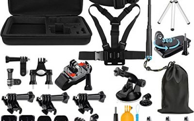 Lighten Outdoor Sports Accessories Kit for GoPro Hero 7 Black Silver White/6/Hero 5 4 3+ 3 2 1/Hero(2018)/Fusion AKASO EK7000 APEMAN Campark FITFORT 4K WiFi Action Camera