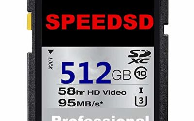 SPEEDSD 512GB SD Card Class 10 SDXC Memory Card UHS-I/U3 Flash Memory Card