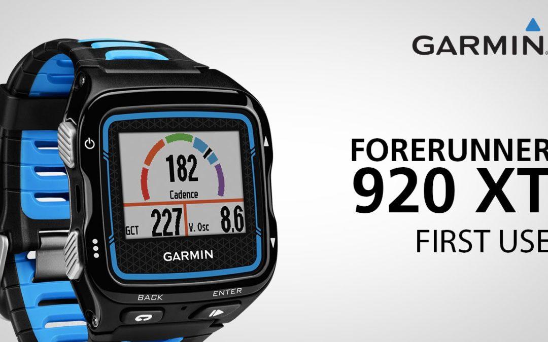 Garmin Forerunner 920XT: Getting Started