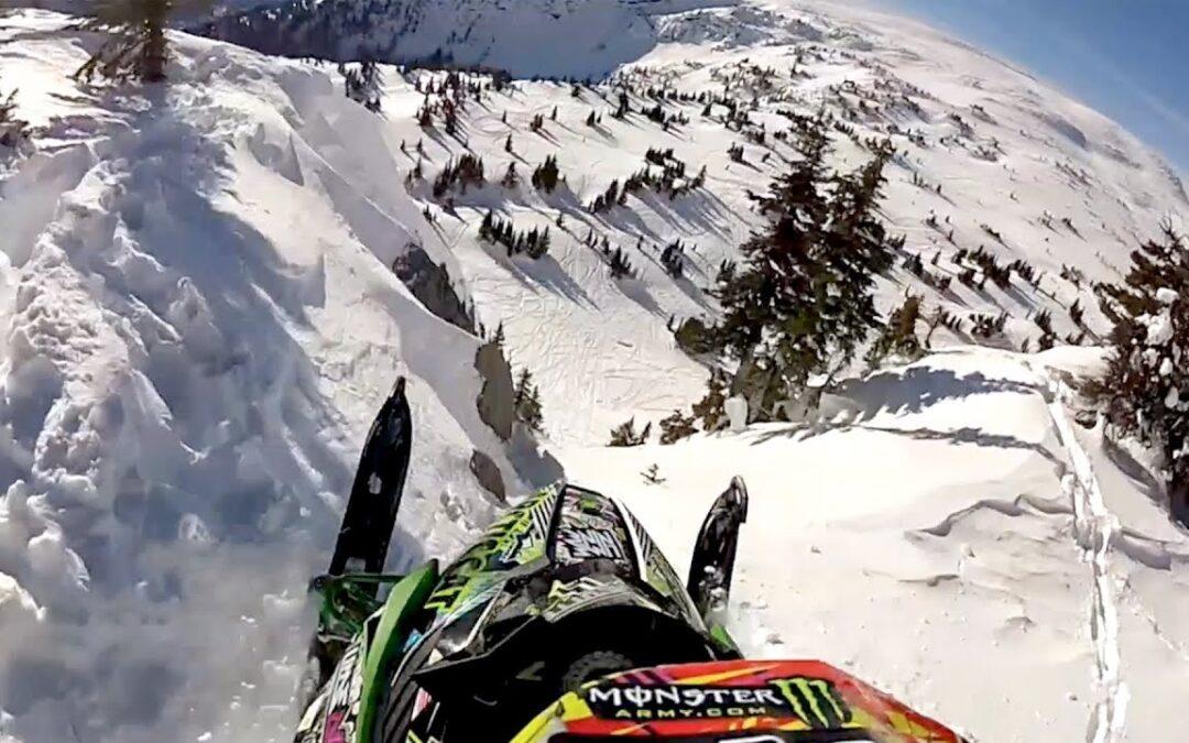 GoPro: Snowmobile Cliff Huck