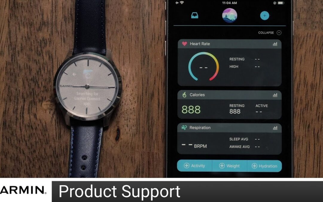 Support: Pairing a vívomove® watch with the Garmin Connect™ App