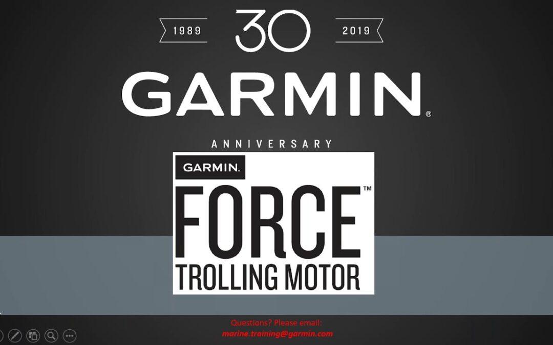 Garmin Marine Webinars: Garmin Force Trolling Motor