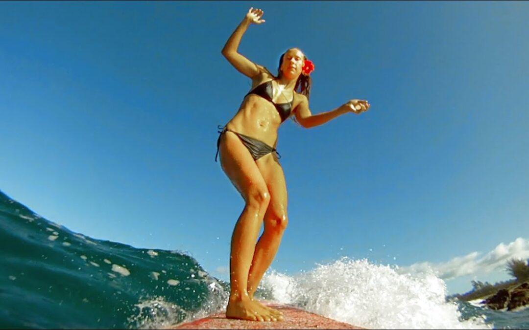 GoPro HD HERO camera: Hawaiian Longboarding with Daize Girl