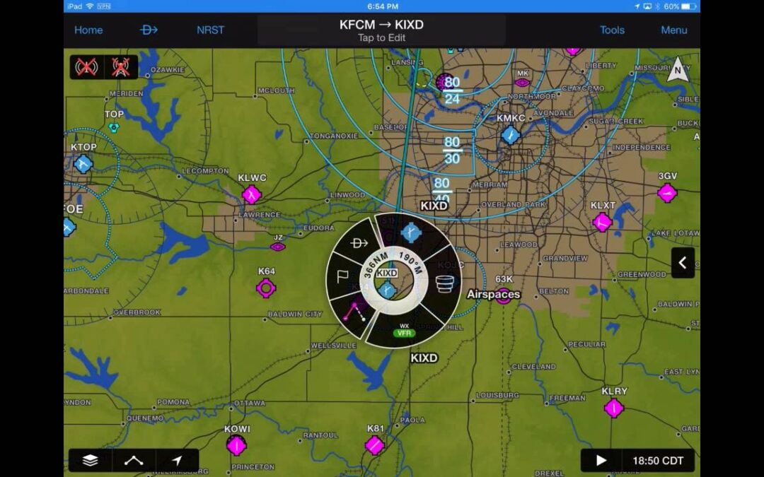 Garmin Pilot: Chart Overlays